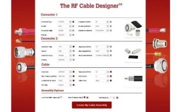 Fairview Microwave introduces new online RF Cable Designer™ tool